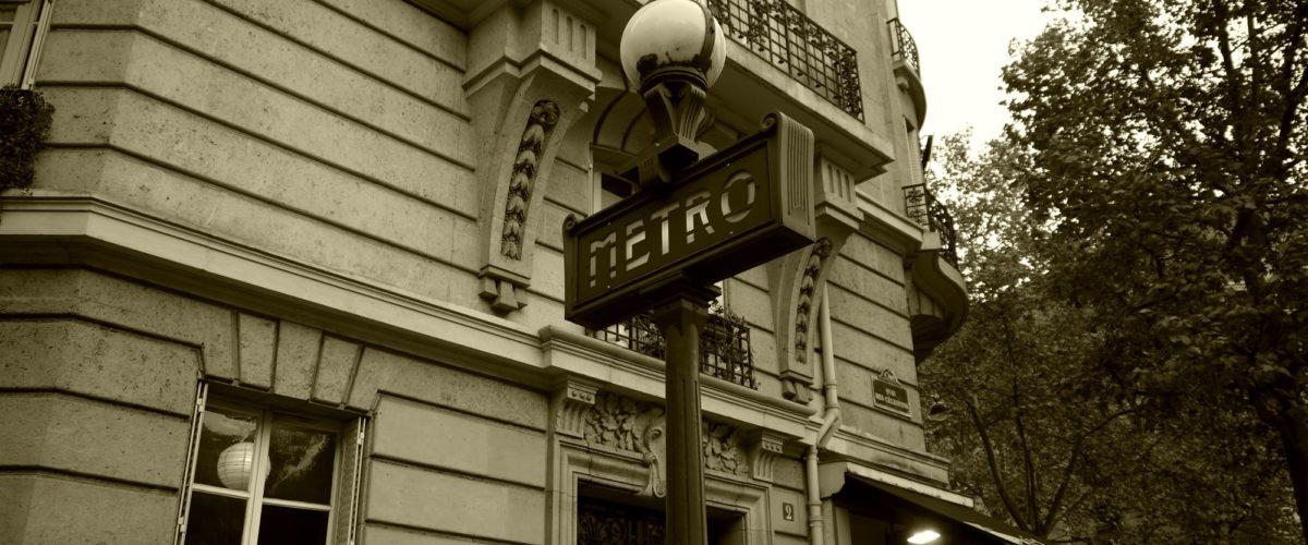 パリメトロ街灯