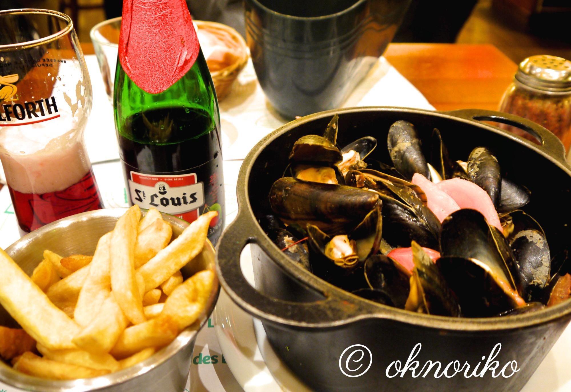ベルギー ビールとムール貝
